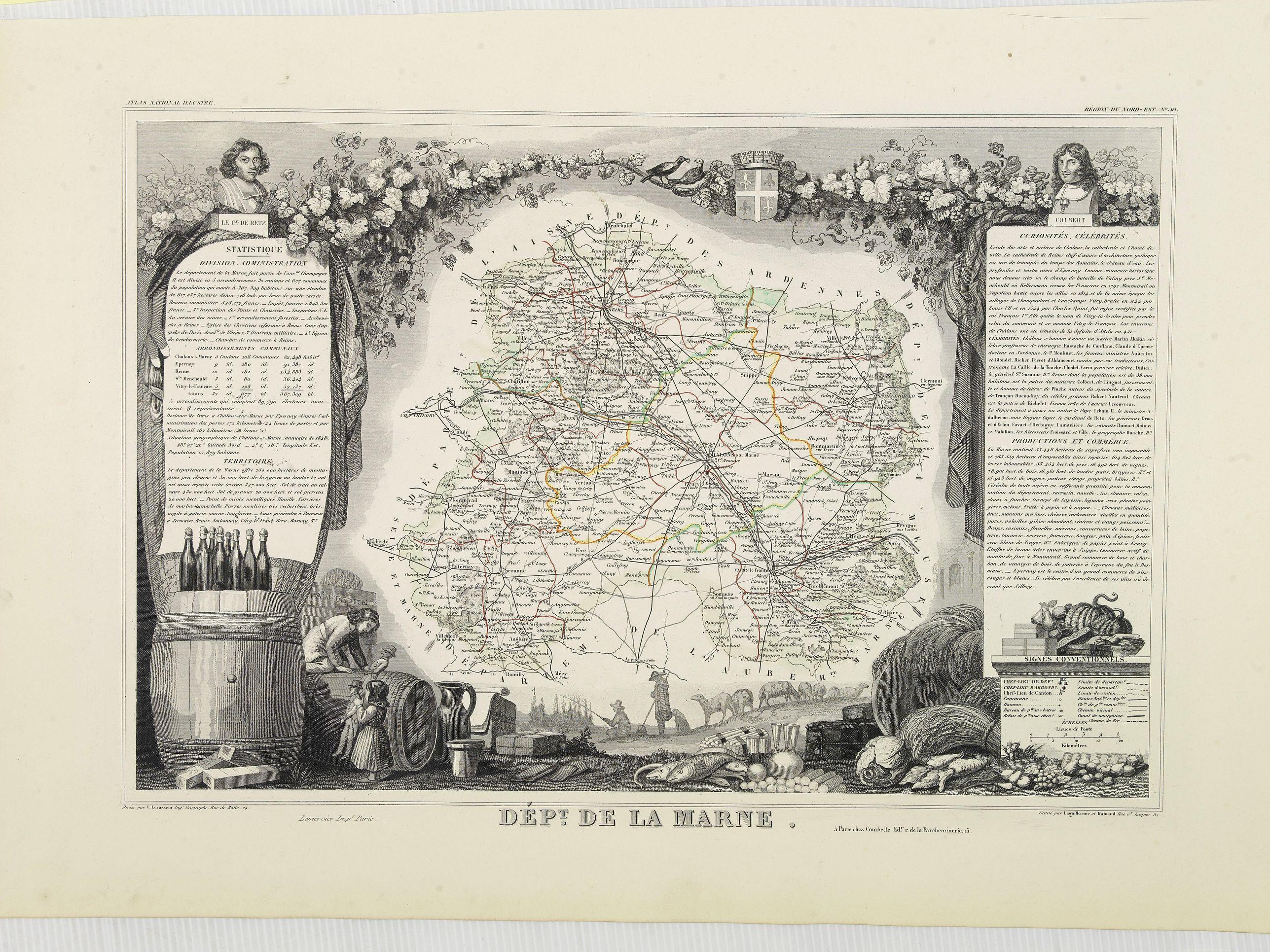 LEVASSEUR, V. -  Dépt. De La Marne. N°50.