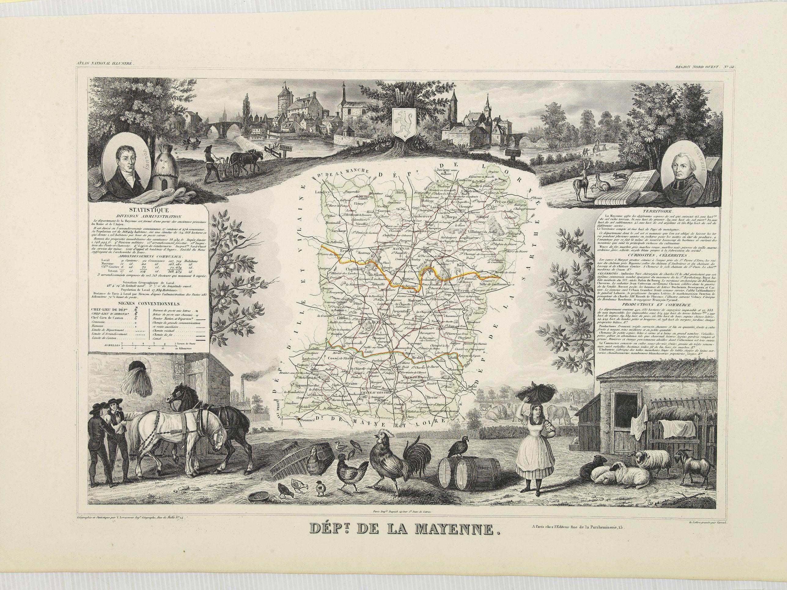 LEVASSEUR, V. -  Dépt. De La Mayenne. N°52.  [ Laval ]