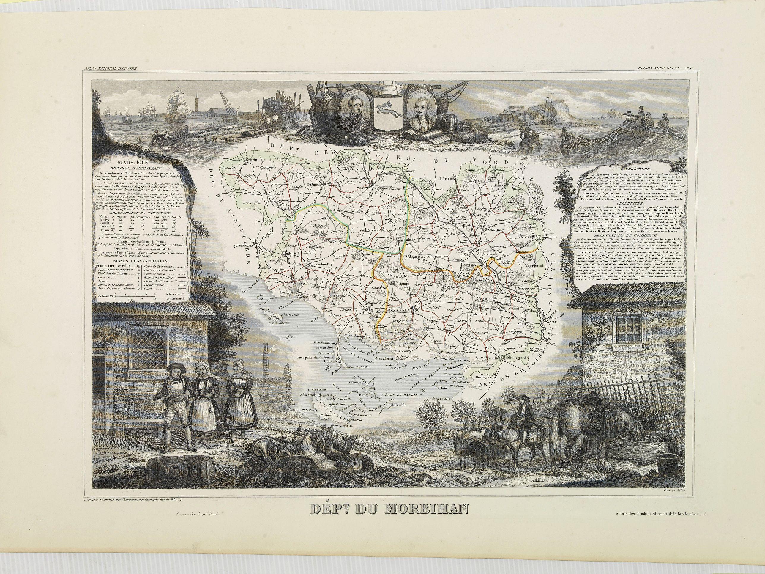 LEVASSEUR, V. -  Dépt. du Morbihan. N°. 55. [ Morbihan, Belle-Ile ]