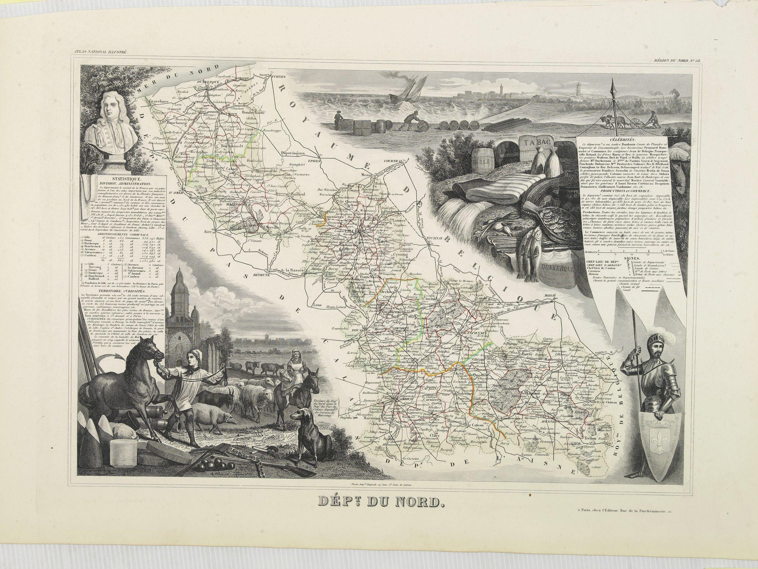 LEVASSEUR, V. -  Dépt. Du Nord. N°58. [ Lille and Valenciennes ]
