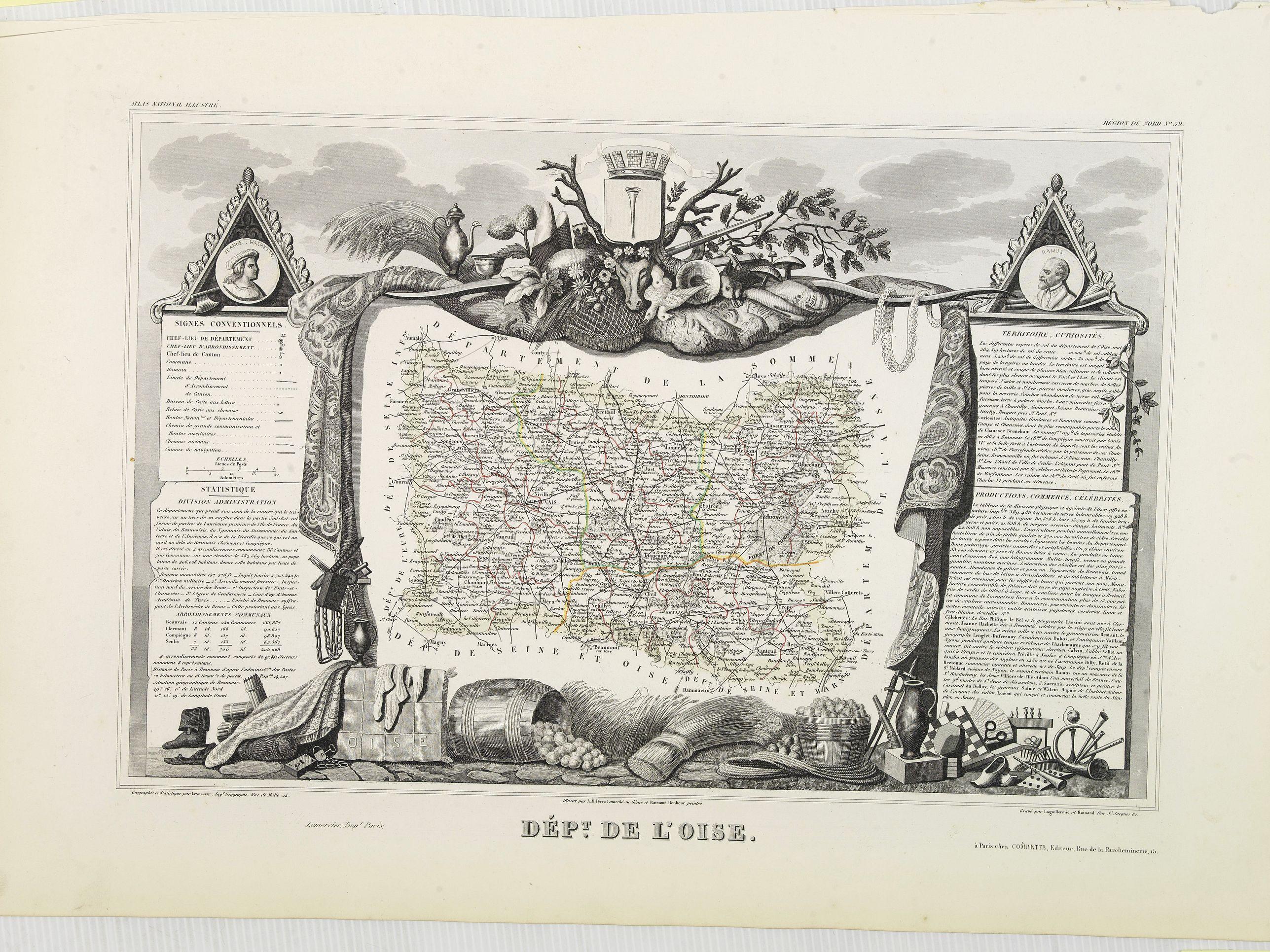 LEVASSEUR, V. -  Dépt. De L'Oise. N°59.  [ Beauvais ]