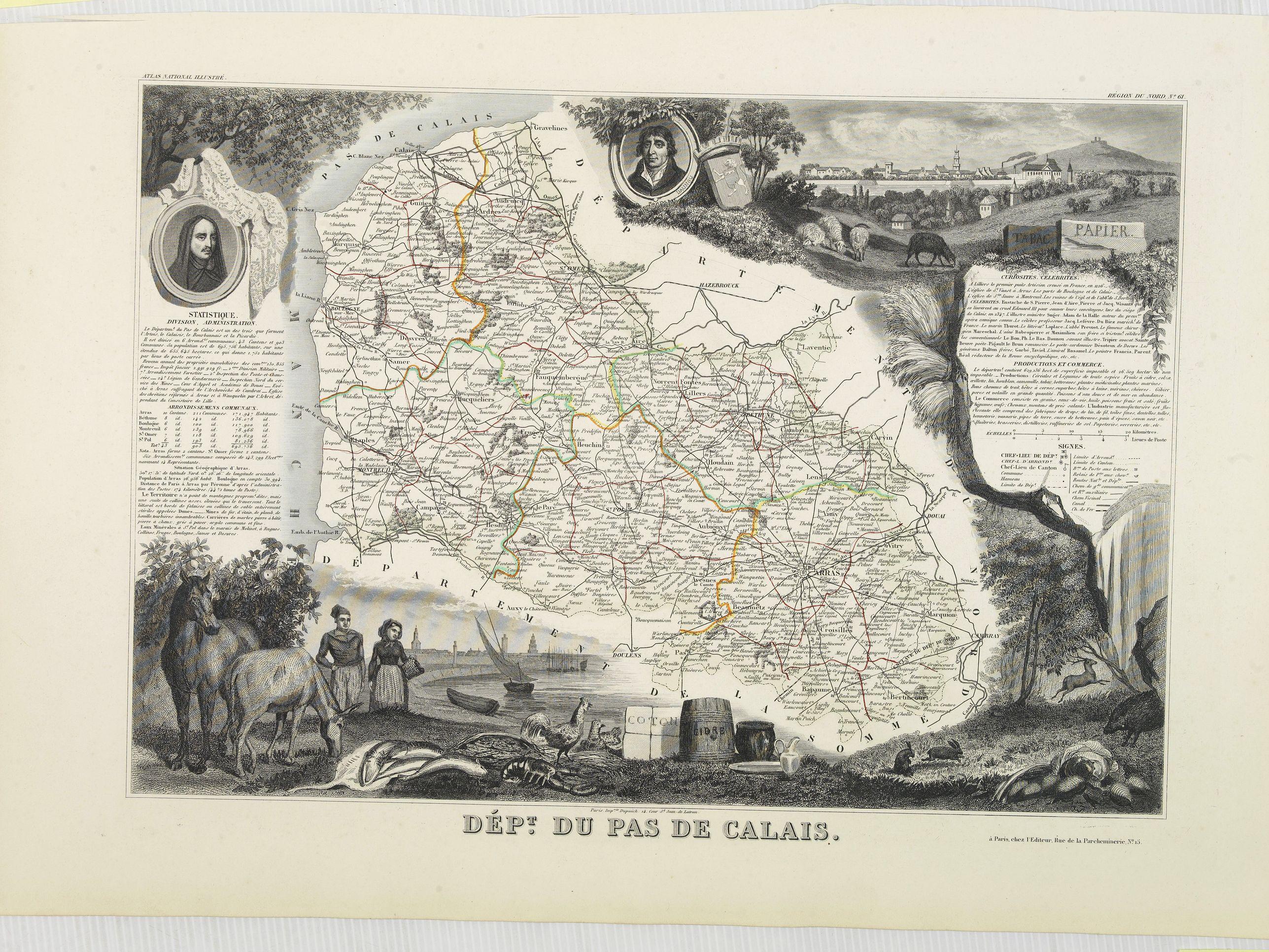 LEVASSEUR, V. -  Dépt. Du Pas de Calais. N°61. [ Calais & Boulogne-sur-Mer ]