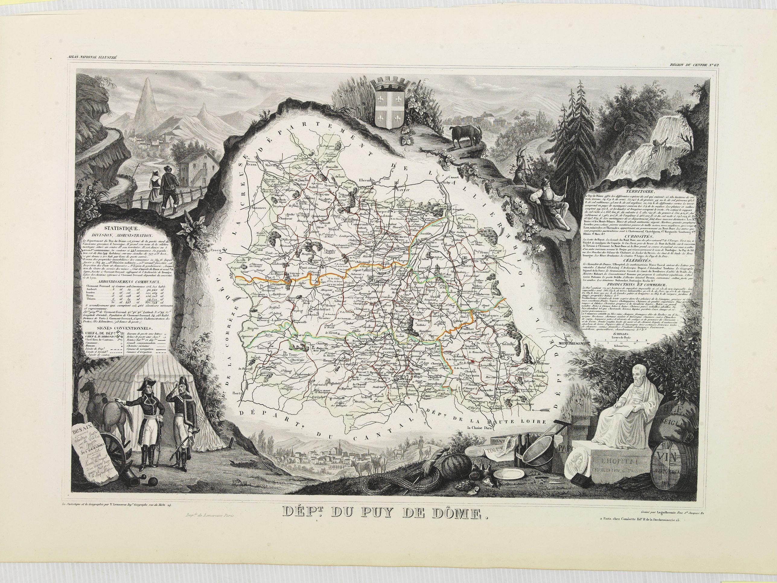 LEVASSEUR, V. -  Dépt. Du Puy De Dôme. N°62. [ Clermond Ferrand ]