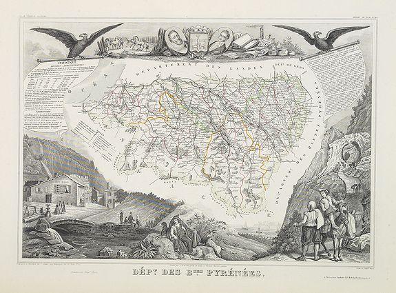 LEVASSEUR, V. -  Dépt. Des Bses. Pyrénées. N°63.  [ Bayonne, St.Jean de Luz ]