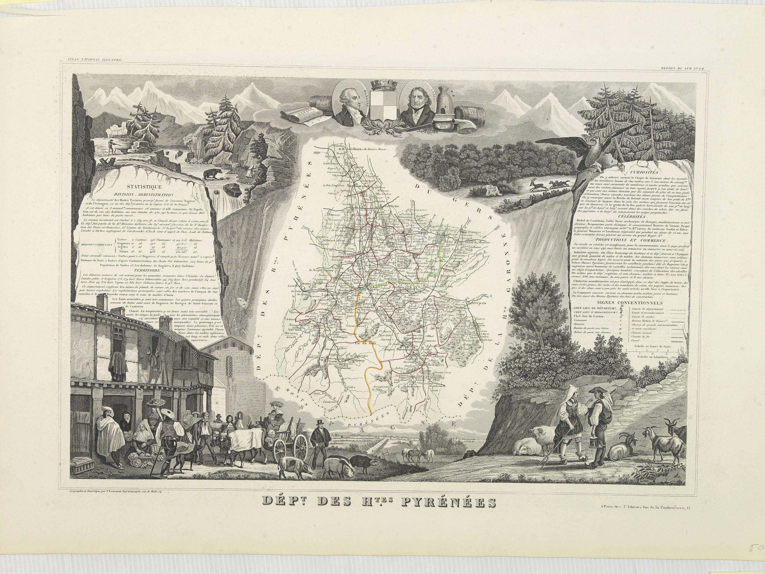 LEVASSEUR, V. -  Dépt. Des Htes. Pyrénées. N°64. [ Lourdes ]