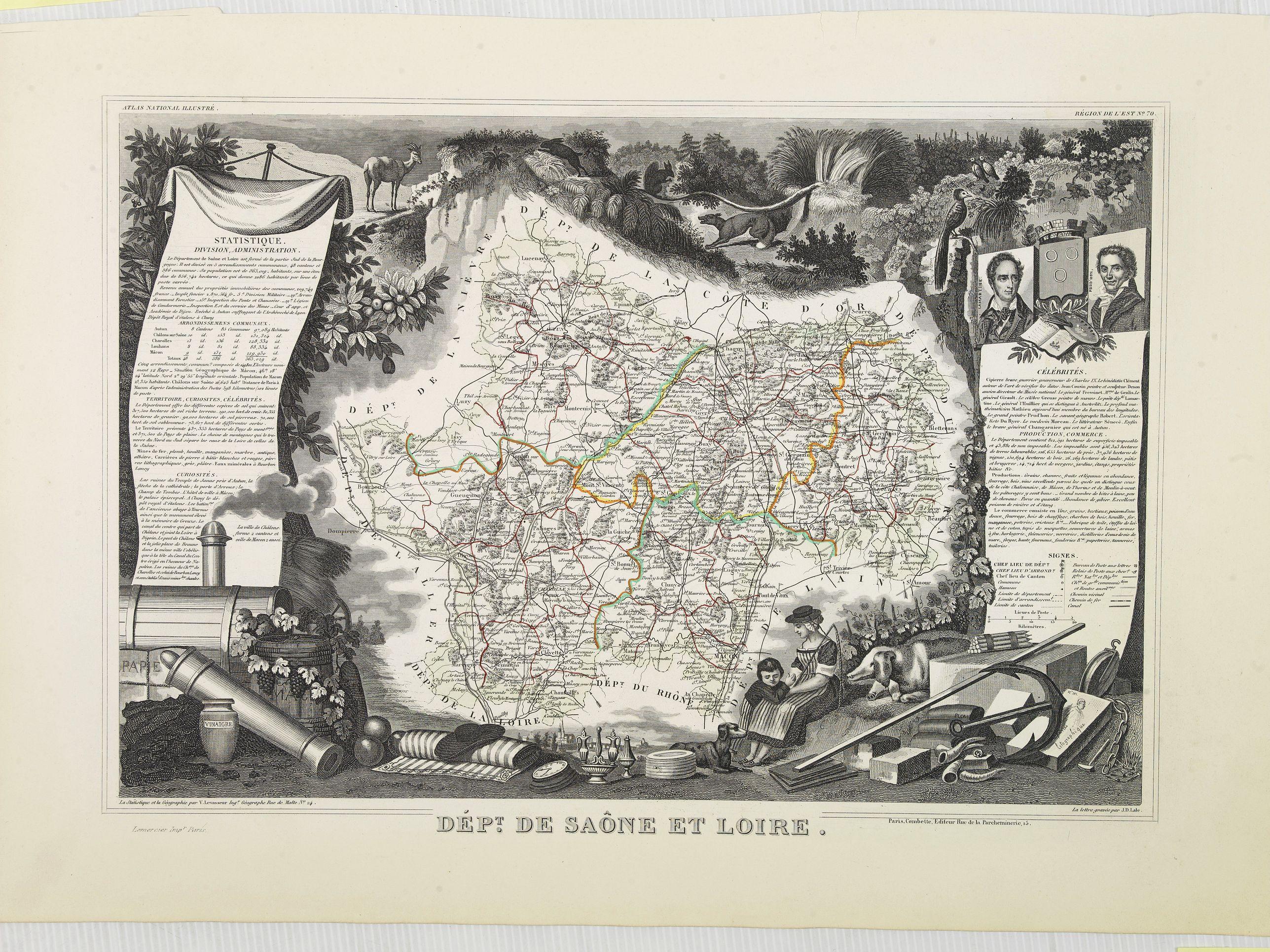 LEVASSEUR, V. -  Dépt. De Saône et Loire. N°70.