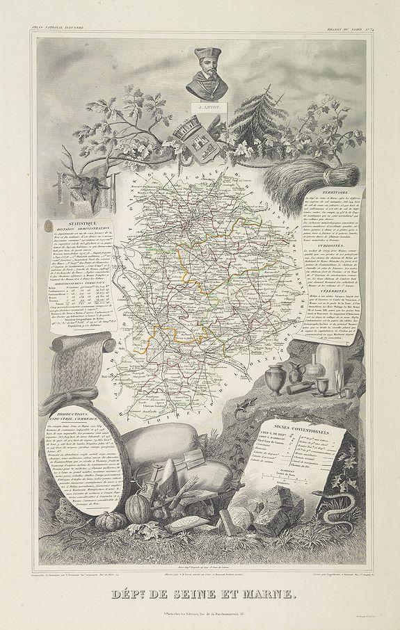 LEVASSEUR, V. -  Dépt. De Seine et Marne. N°74.  [ Melun, Coulommiers ]
