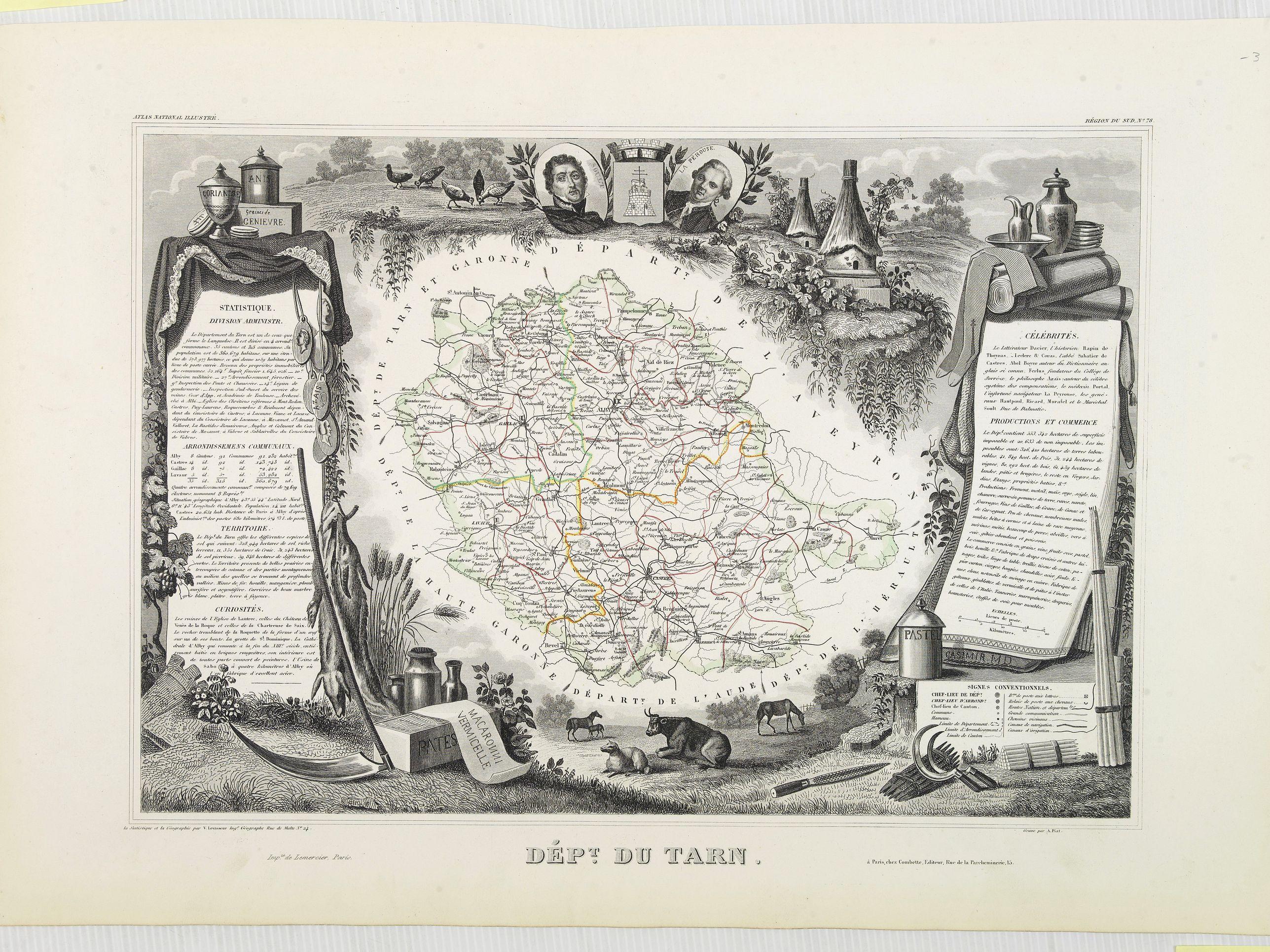 LEVASSEUR, V. -  Dépt. Du Tarn. N°78. [ Alby, Castre, Giallac ]