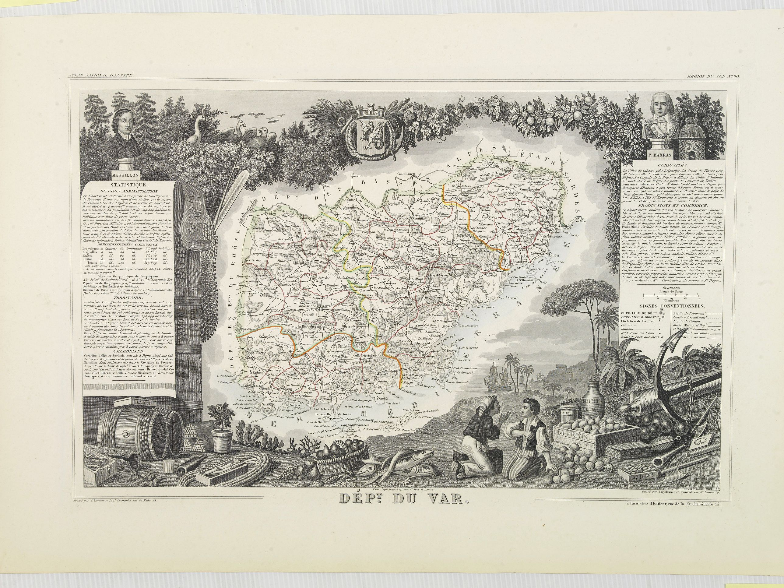 LEVASSEUR, V. -  Dépt. Du Var. N°80. [Nice, Antibes, St. Tropez]