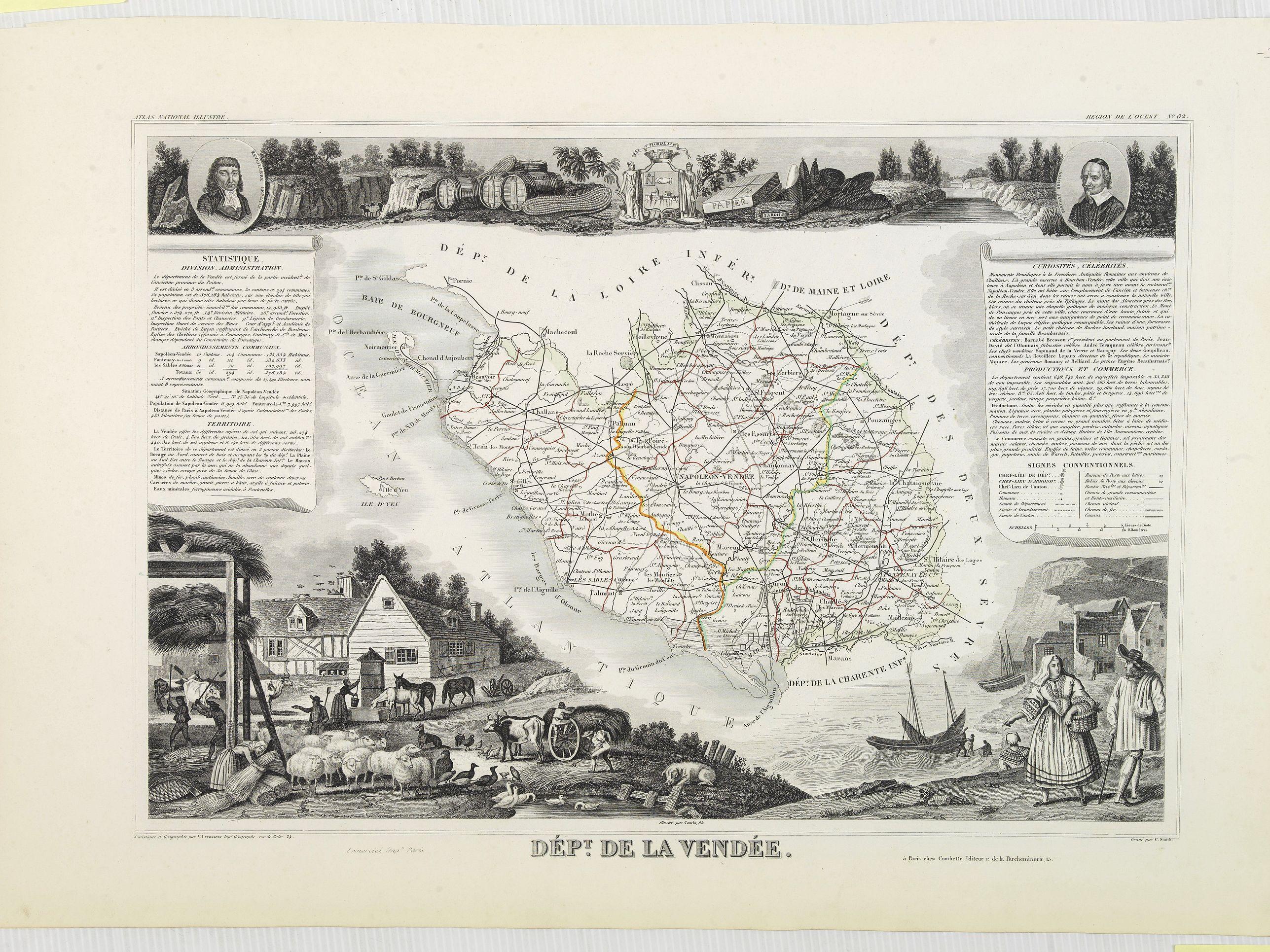 LEVASSEUR, V. -  Dépt. De La Vendée. N°82.  [ Les Sables d'Olonne ]