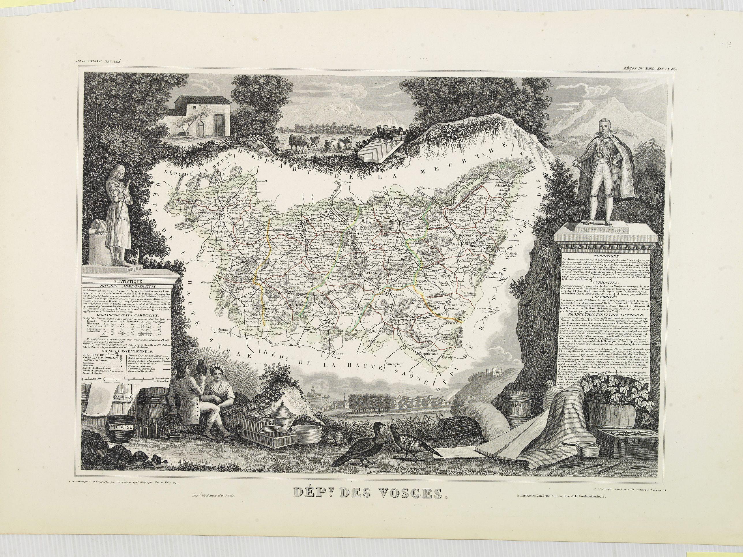 LEVASSEUR, V. -  Dépt. Des Vosges. N°85.  [ Epinal ]