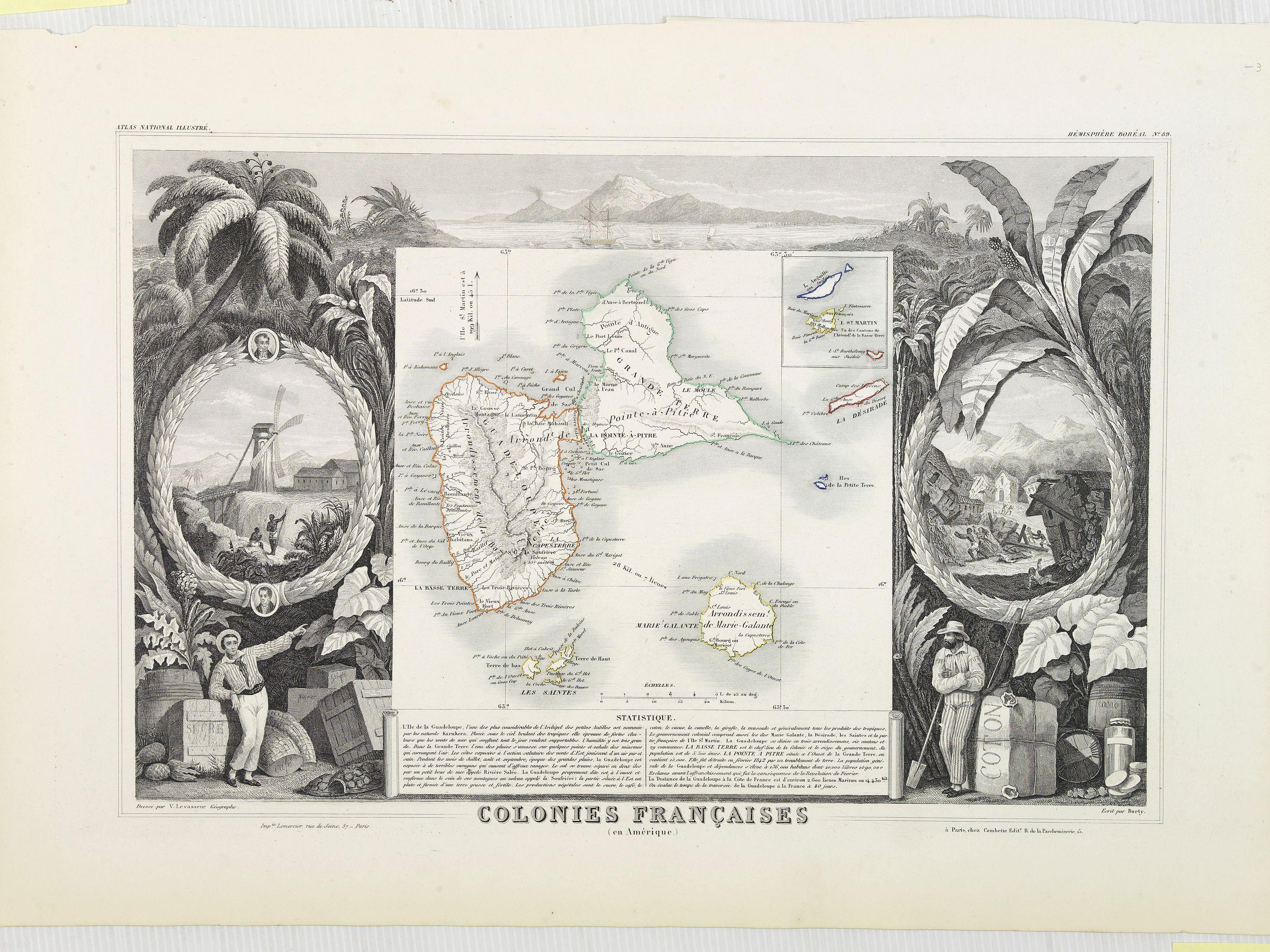 LEVASSEUR, V. -  Colonies Fran�aises (en Am�rique). N�89. [Guadeloupe].