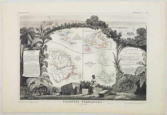 LEVASSEUR, V. -  Colonies Françaises (en Amérique). N°92.