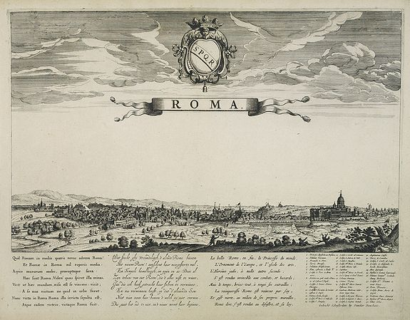 DANCKERTS, D.,  Roma., antique map, old maps
