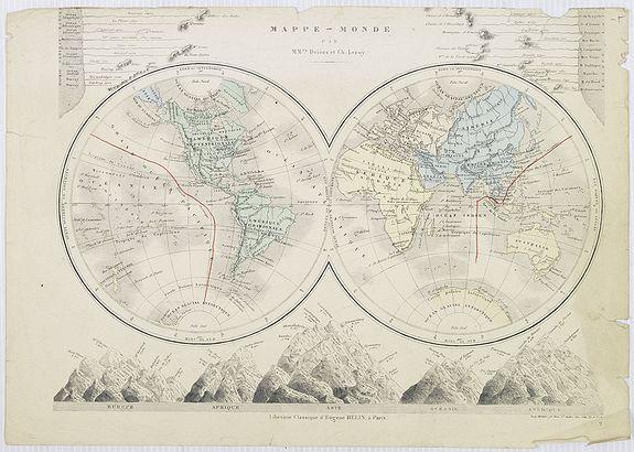 BELIN, E. - Mappe-Monde par M.Mrs. Drioux et Ch.Leroy.