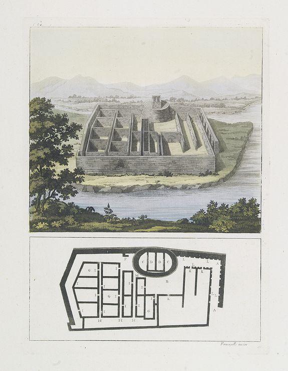 FERRARIO, G. -  [The Callo Palace.]
