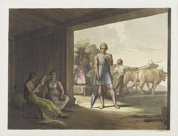 FERRARIO, G. -  [ Jesuitical Indians at work at their 'Reducciones' ]