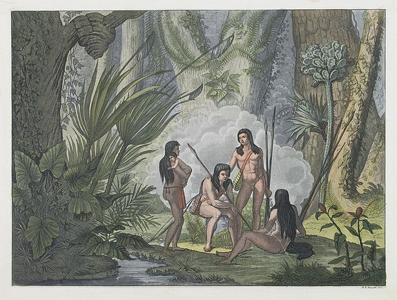 FERRARIO, G.,  [Camacan indians in Brazil ]., antique map, old maps
