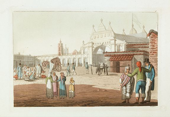 FERRARIO, G. - [ Market Place at Buenos Aires. ]
