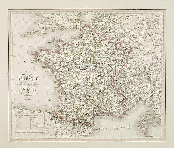 HERISSON -  Royaume de France divisé en 32 gouvernemens. . .