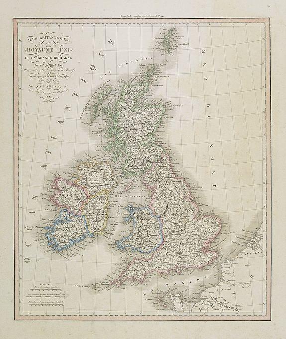 DUFOUR, A.H. -  Iles Britanniques ou Royaume-Uni de la Grande Bretagne . . .