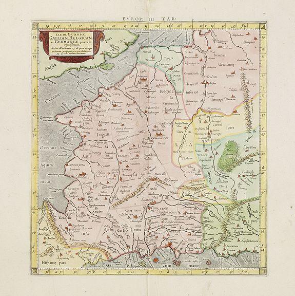 PTOLEMY / MERCATOR, G. -  Tab. III. Europae, Galliam, Belgicam, ac Germaniae, Partem Representans . . .