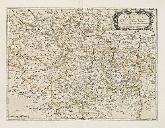 SANSON, N. / MARIETTE, P. -  Gouvernement General du Lyonnois . . .