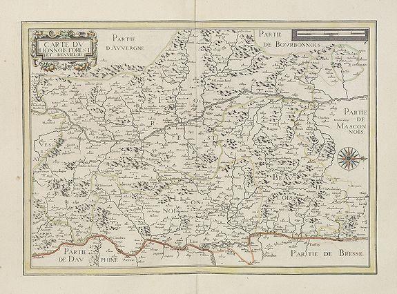 TASSIN, N. -  Carte du Lionnois forest et Beavielois.