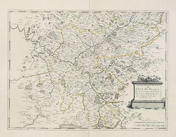 SANSON,N. / MARIETTE, P. -  Gouvernement Général de L'Isle de France et pays circomvoisins. . .