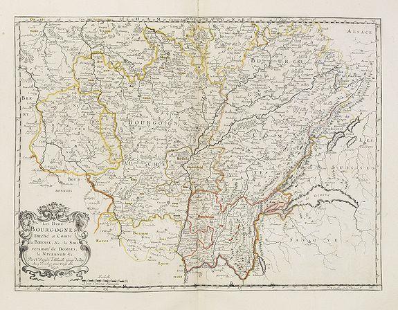 SANSON, N. / MARIETTE, P. -  Les Deux Bourgognes Duché et comté la Bresse &c. la Souveraineté de Dombes, le Nivernois &c..