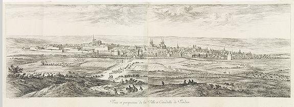 SILVESTRE, -  Vue et perspective de la Ville et Citadelle de Verdun.
