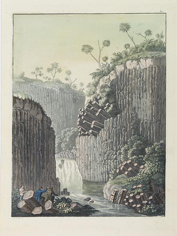 FERRARIO, G. -  [ Regla columnar basalt quarry ].