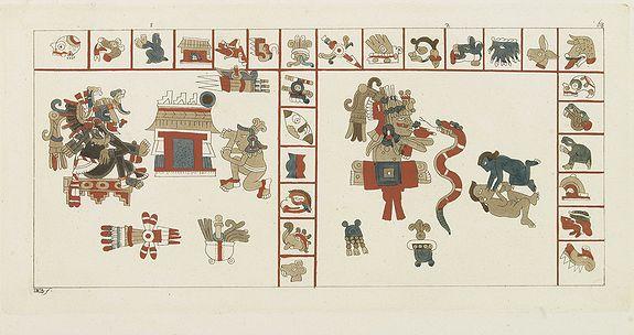 FERRARIO, G. -  [ Hieroglyph representing the Cihuacohuat Goddess ].