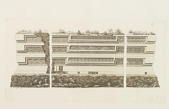 FERRARIO, G. -  [The ruins of Mitla ].