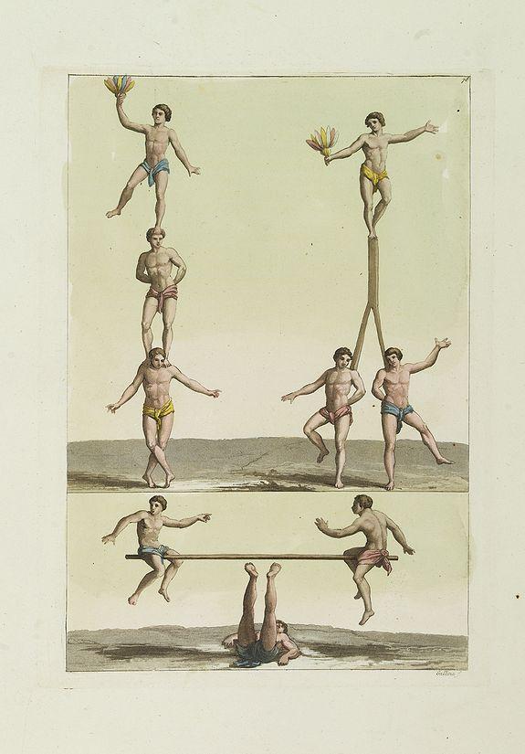 FERRARIO, G. -  [ Acrobatic games ].