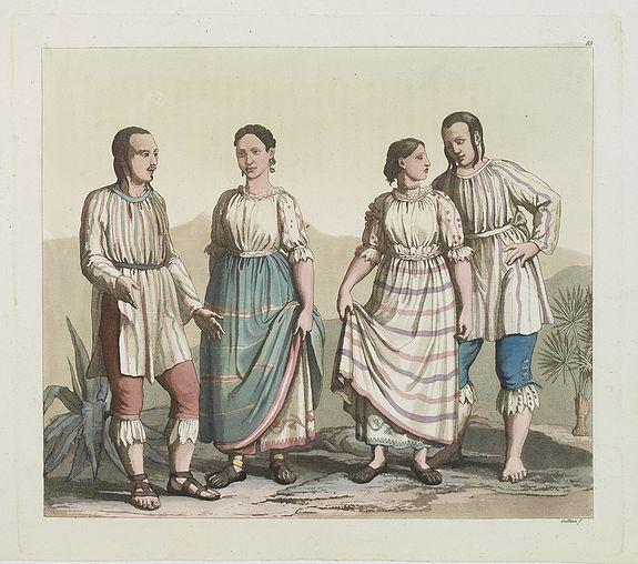 FERRARIO, G. -  [ Mechoacan Indians traditional garments ].