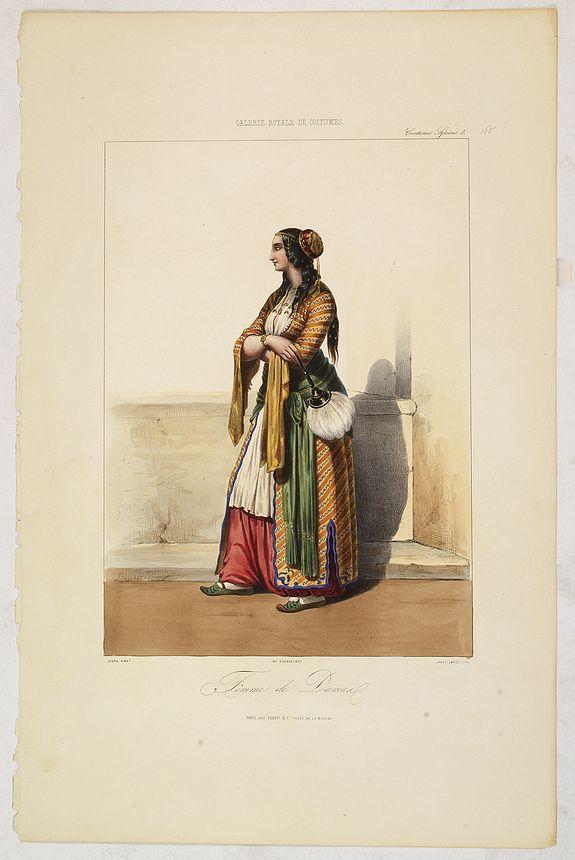 GALERIE ROYALE DE COSTUME. -  FEMME de DAMAR. Costumes Syriens 5.