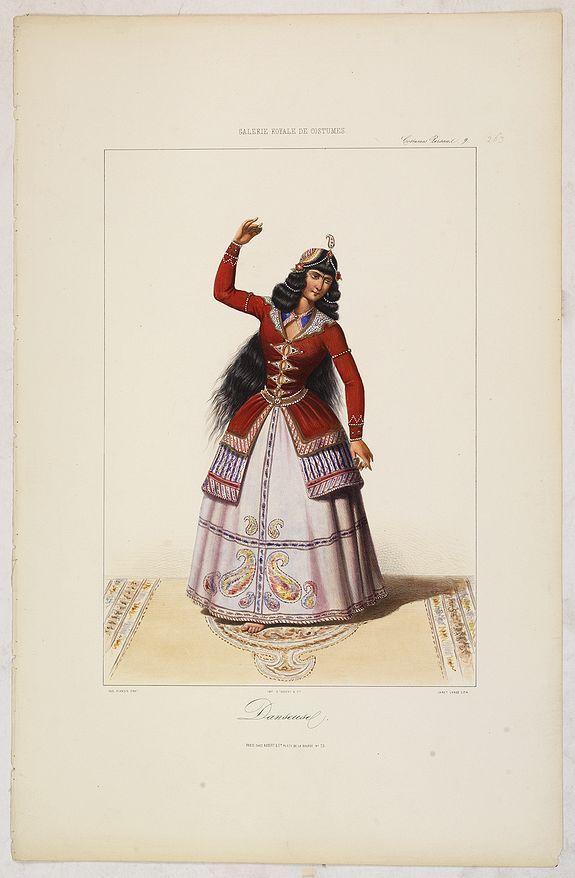GALERIE ROYALE DE COSTUME. - DANSEUSE. Costumes Persans 9.