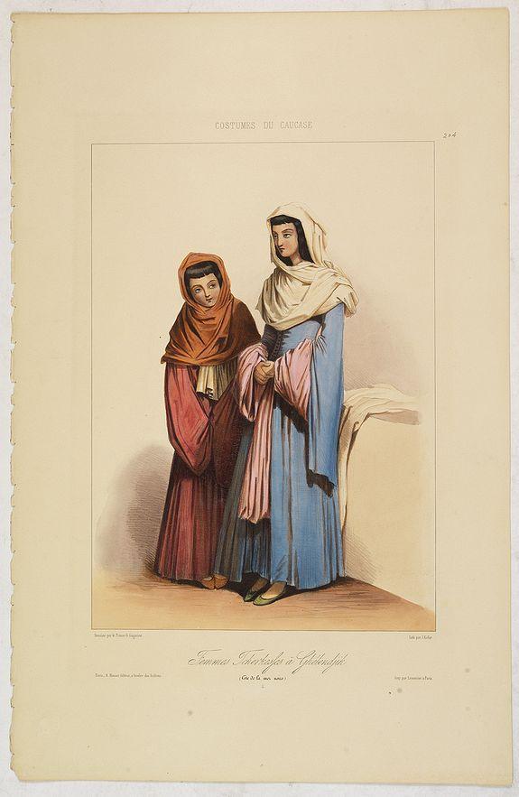 GAGARIN, G. -  FEMMES TCHERKESSES à GHELENDJIK. (Côte de la Mer Noire).