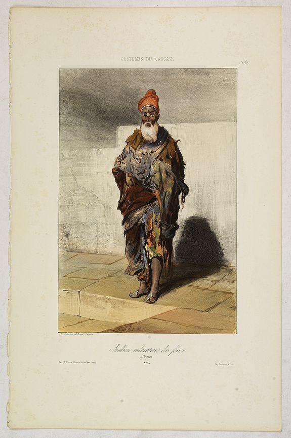 GAGARIN, G. -  Indien adorateur du feu à Bacou. N°53.