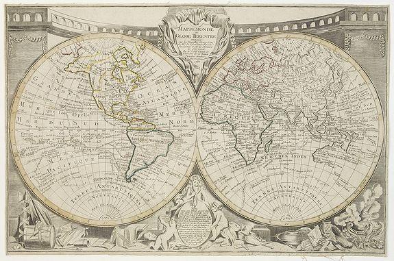 CLOUET, J.B.L.L'Abbe -  Mappemonde ou globe terestre dressée sur les Nouvelles Observations . . .