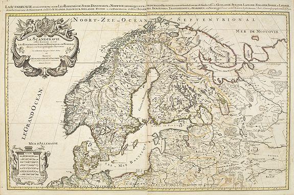 JAILLOT, H. / MORTIER, P. -  La Scandinavie et les environs, ou sont le royaumes de Suede de Danemarck, et de Norwege . . .
