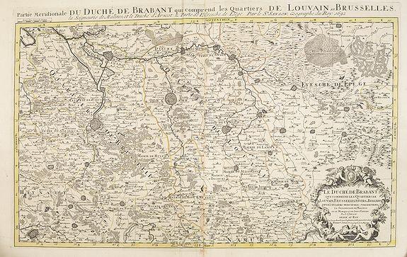 JAILLOT, H. / MORTIER, P. -  Partie meridionale du Duché de Brabant comprend les Quartiers de Louvain et Brusselles. . .