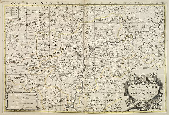 JAILLOT, H. / MORTIER, P.,  Comté de Namur . . ., antique map, old maps
