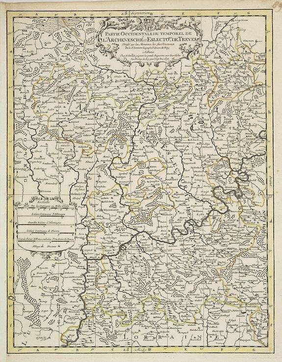 JAILLOT, H. / MORTIER, P. -  Partie Occidentale du Temporel de l'Archevesché et Eslectorat de Treves . . .