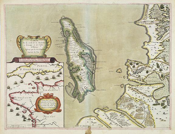TAVERNIER, M. -  Carte de la Coste de La Rochelle a Brouaige et de l'Isle d'Oleron Observee par le S.r de Chattillon ingenieur du Roy.