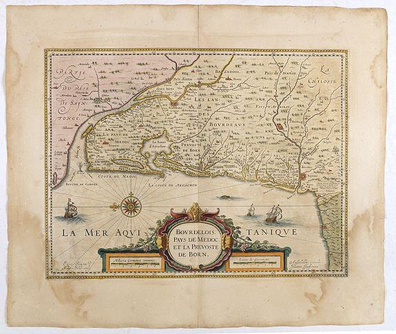 JANSSON, J. -  BOURDELOIS, Pays de Medoc, et la Prevoste de Born.