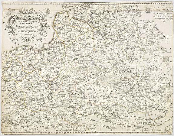 SANSON, N./ MARRIET, P. -  Etats de la couronne de Pologne ou sont les Royaume de Pologne, . . . De l'Ukanie &c.