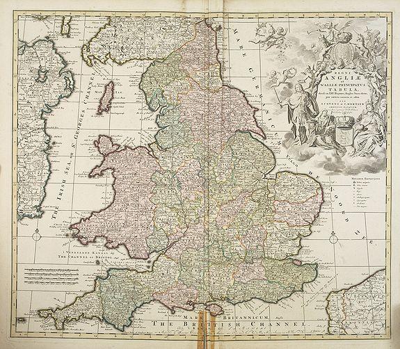 COVENS, J. / MORTIER, C. -  Regni Angliae et Wallae principatus Tabula, divisa in LII Regiones. . .