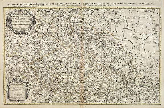 SANSON, N. / JAILLOT, A.H. / MORTIER, P. -  Etats de la Couronne de Boheme qui comprennent le Royaume de Boheme . . .